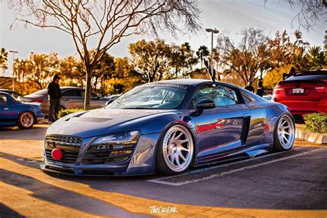 audi r8 slammed slammed r8 photo by the car lab boden autohaus