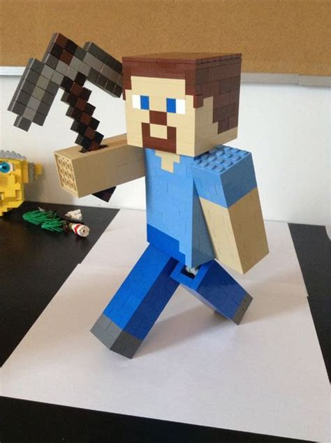 How To Make A Minecraft Steve Out Of Paper - lego minecraft steve