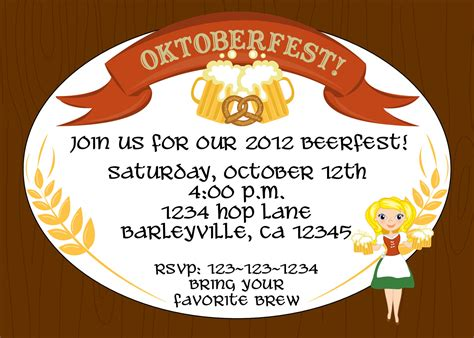 oktoberfest invitation template oktoberfest beerfest invitation or birthday print your
