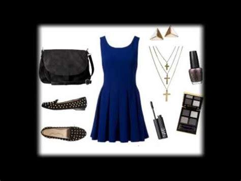 un vestido (azul marino)♥ 7 formas de combinarlo youtube
