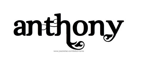 tattoo fonts reversible similiar anthony name for the letters keywords