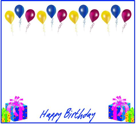 happy birthday photo frame template birthday borders and frames new calendar template site
