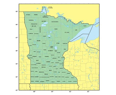 road map minnesota usa maps of minnesota state collection of detailed maps of
