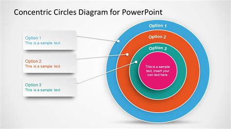 Circle Diagram Template by Concentric Circles Diagram Template For Powerpoint