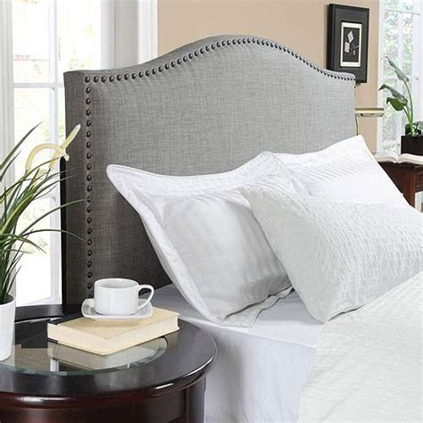 grayson headboard grayson linen full queen headboard with nailheads