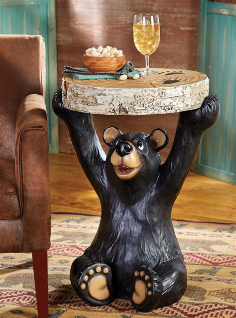 black bear table ls bear end table