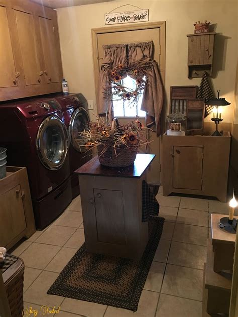 Primitive Laundry Room Decor My Primitive Laundry Room By Jozy Casteel Country Decor Pinterest Signs Chic And Laundry