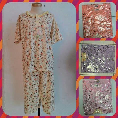 Pakaian Wanita Kaos Jumbo Puding pusat grosiran baju tidur katun dewasa 3 4 jumbo murah