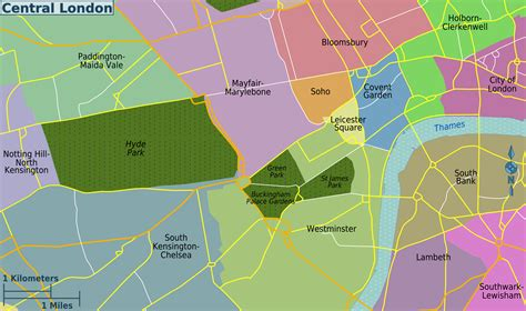 sections of london file central london districts map png