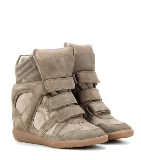 marant slippers 201 toile bekett leather and suede sneakers marant