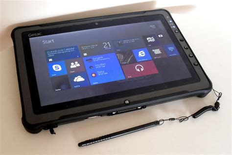 windows tablet rugged grade bruiser getac f110 rugged tablet is no the register
