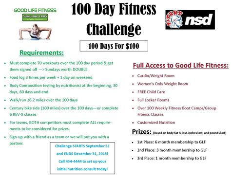 100 day fitness challenge for norris community norris