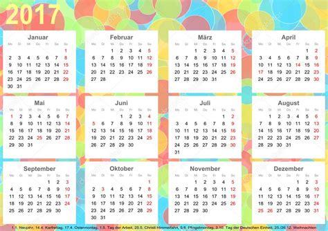 Calendario Giorni Festivi Germania Calendario 2017 Sfondo Cerchi Colorati Ger Foto Stock