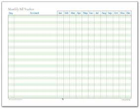Bill Tracker Template by A Few More Finance Printables To Help You Stay On Track