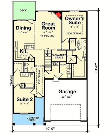 budget bungalow 21977dr 1st floor master suite cad 1604 best houses images on pinterest house floor plans