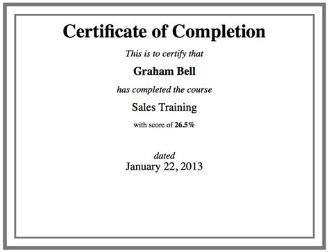 course completion certificate templates custom certificate template using html