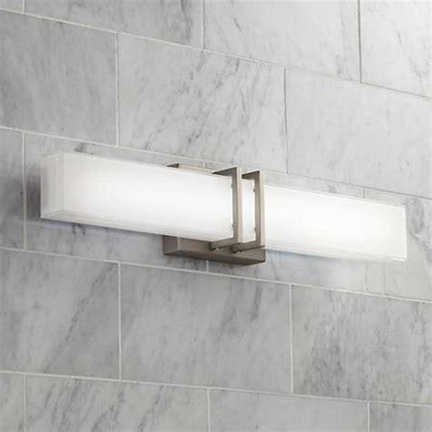 possini bathroom light fixtures possini euro exeter 24 quot wide led nickel bathroom light