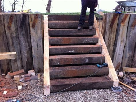 Railway Sleeper Stairs by Steps From New And Used Railway Sleepers