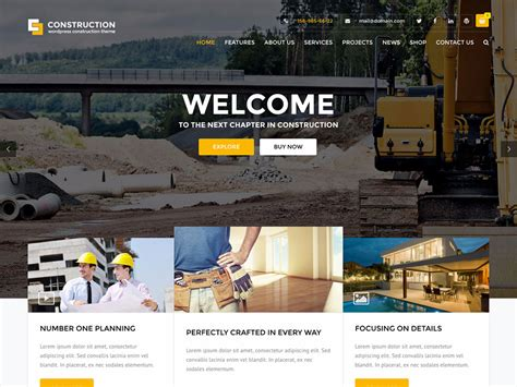 the 25 best construction company wordpress themes 2016