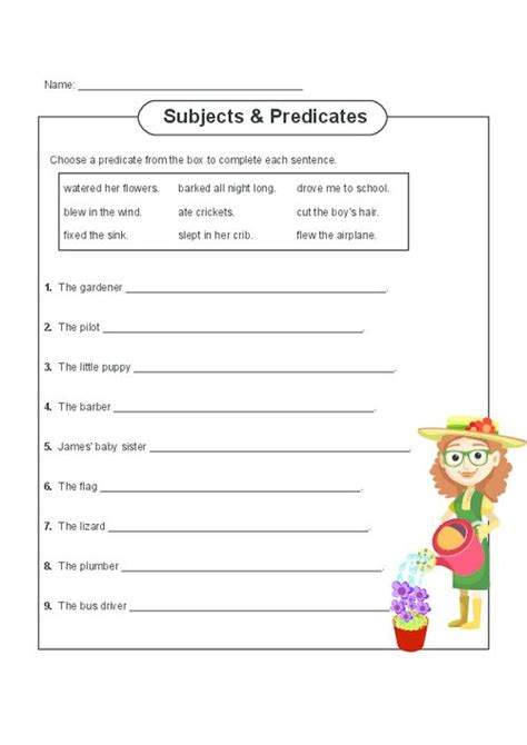 Subject And Predicate Worksheets by 1000 Ideas About Subject And Predicate On