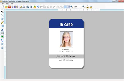free id card template word best professional templates