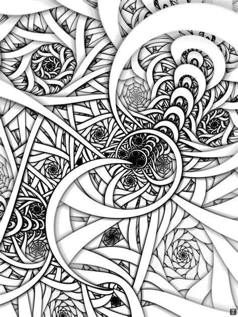 fractal coloring book fractal coloring pages free coloring pages