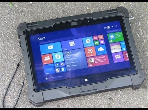dell latitude 12 rugged tablet : first look youtube