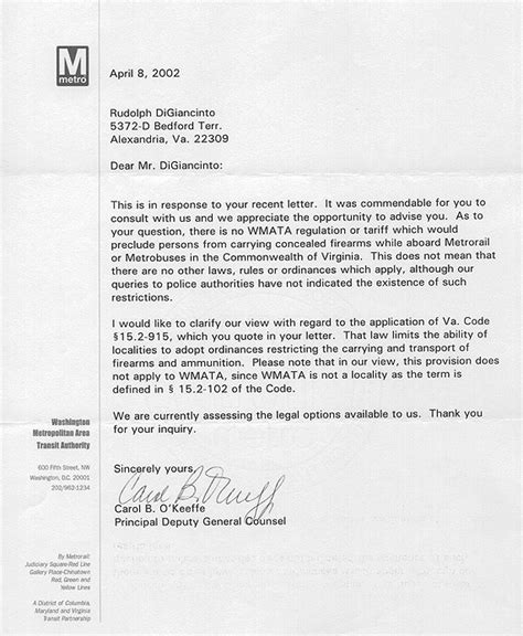 Character Reference Letter Exle For Gun Permit Open Carry On Transportation