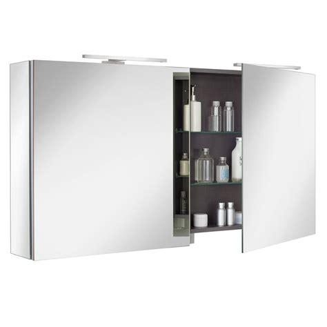 armoires de toilette sanijura armoire de toilette box 120cm 2 portes miroir