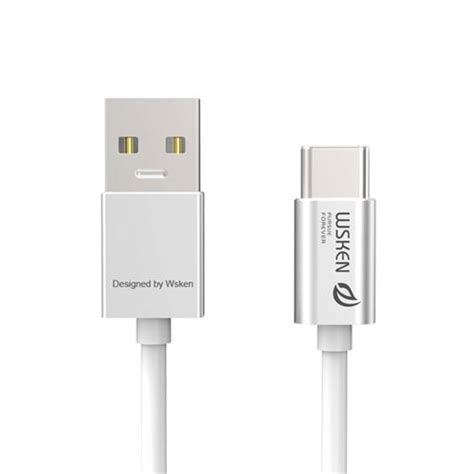 Wsken 3 0 Metal Data Usb Cable Type C For Nexus 6p 5x Mi4c On wsken type c 3 0 charging data sync metal cable silver