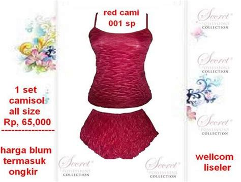 Harga Bra Secret Original import collection stelan camisol by secret possessions