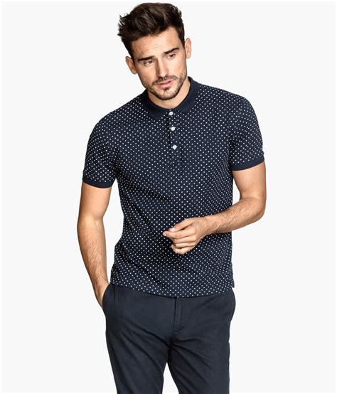 H M Tshirt Polos by Lyst H M Polo Shirt In Blue For