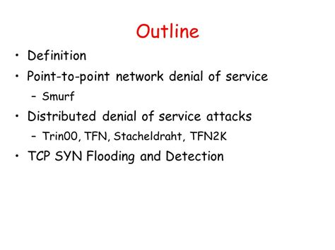 Outline Meaning by Outline Definition Point To Point Network Of Service Ppt