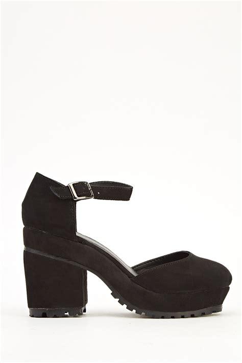 block heel black sandals suedette block heel black sandals just 163 5