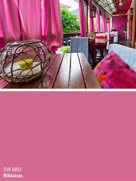 sherwin williams pink paint color hibiscus sw 6851 sherwin williams colors