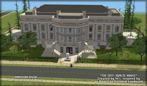 Roosevelt Floor Plan mod the sims nci the off white house an inspired