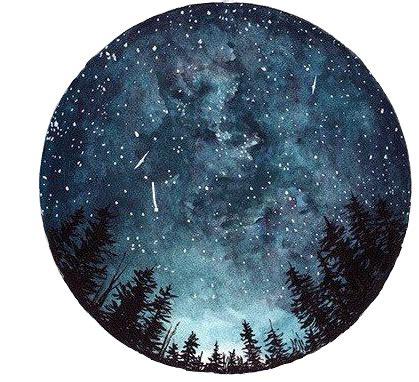 moon galaxy circle circulo