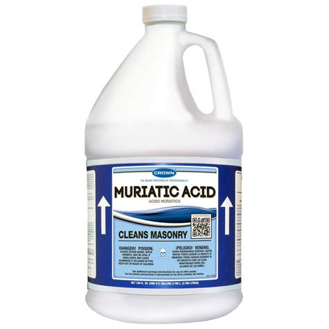 how to use muriatic acid to clean bathroom shop crown 1 gallon muriatic acid at lowes com