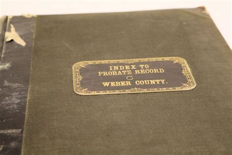 Utah Probate Court Records Name Indexes Utah State Archives