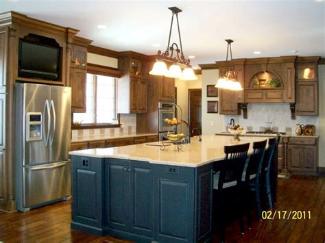 Large Kitchen Island Ideas Kitchen Islands With Seating Hgtv Regarding Large