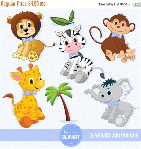 80 sale baby boy safari animals digital clipart