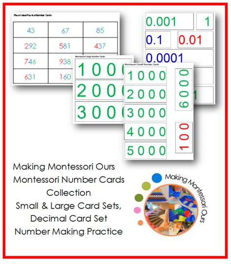 printable montessori number cards diy montessori number cards boxes montessori materials