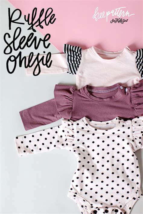 free pattern onesie ruffle sleeve onesie basic onesie pattern free see