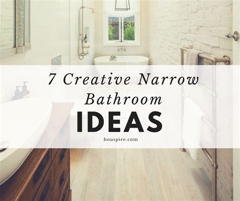 creative bathroom ideas 7 creative narrow bathroom ideas houspire