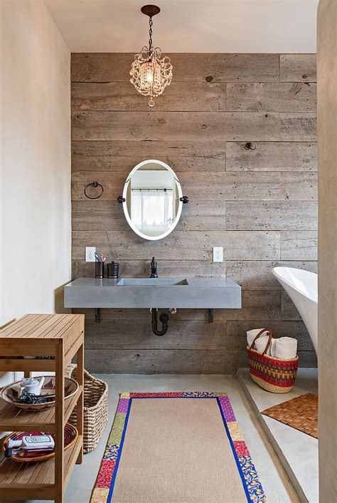 reclaimed wood bathroom salvaged style 10 ways to transform your bathroom with