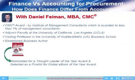 Finance Vs Accounting Mba procurement on demand