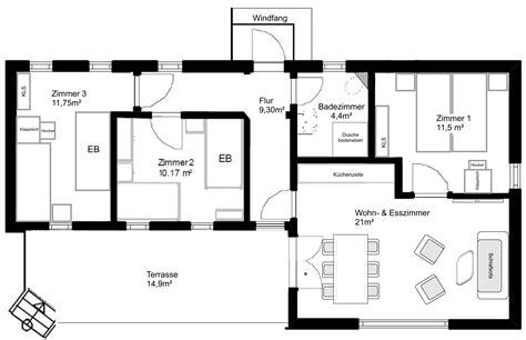 wohnfläche flur u bungalow grundriss beste inspiration f 252 r ihr interior