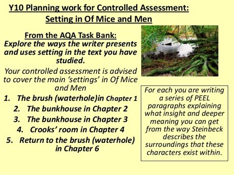 Of Mice And Setting Essay by Persuasive Essay On Of Mice And 187 Ways Of Writing The Thesis Statement