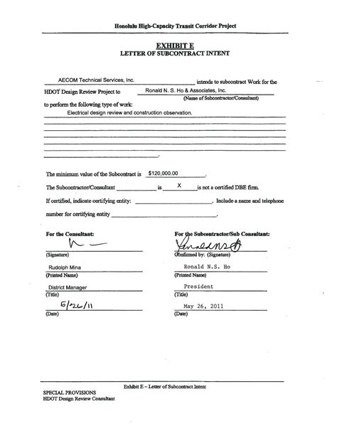 Letter Of Intent To Purchase Rv Honolulu