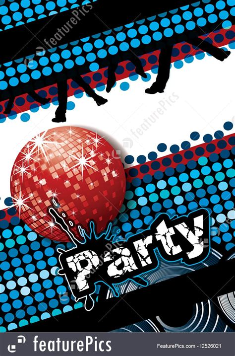 cards  posters party poster stock illustration